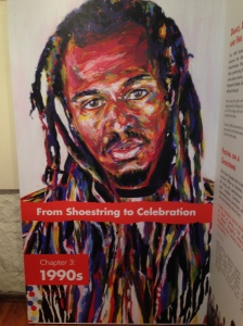 Poet Benjamin Zephaniah by Leeds College of Art students